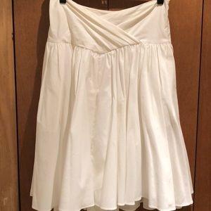 White DVF skirt